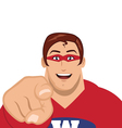 superhero pointing vector image vector image