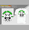 t-shirt template fully editable with skull horn vector image vector image
