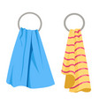 towels on round racks bathroom holder for fabric vector image vector image
