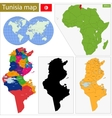 Tunisia map vector image vector image