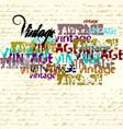 vintage grunge pattern vector image