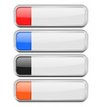 white buttons with colored tags menu interface vector image vector image