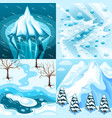 winter landscaping isometric design concept vector image vector image