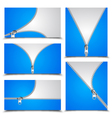 Zipper Collection vector image vector image