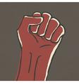 fist symbol vector image