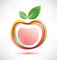 red apple symbol icon vector image