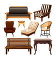 Chairs and table vector image