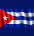 3d flag of cuba cuban national symbol vector image vector image