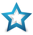 3d star icon element on white with shadow vector image