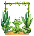 A frog thinking vector image vector image