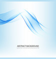 abstract blue waves background design for vector image vector image
