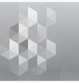 abstract gray hexagon background vector image vector image