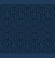 blue seigaiha luxurious japanese wave pattern vector image