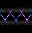 blue ultraviolet neon laser rays abstract banner vector image
