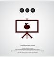 board with apple icon simple school element vector image vector image