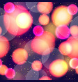 bokeh abstract seamless pattern vector image
