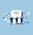 business proposal team propose company plan vector image