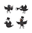 Cartoon birds set vector image