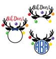 christmas reindeer antlers vector image