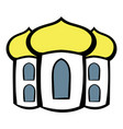 church icon cartoon vector image vector image
