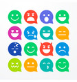 colorful flat style emoji speech bubbles vector image vector image