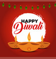 colorful greeting card design for diwali festival vector image vector image