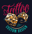 colorful tattoo studio print vector image