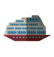cruise boat transatlantic vacation recreation vector image