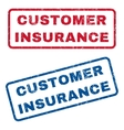 Customer Insurance Rubber Stamps vector image vector image