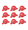 Discount percent sticker price tag vector image