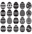 Easter egg set black vector | Price: 1 Credit (USD $1)