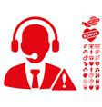 emergency service icon with love bonus vector image vector image
