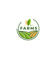 farm icon template vector image vector image
