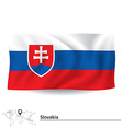 Flag of Slovakia vector image vector image