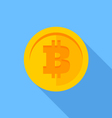 Flat icon Bitcoin vector image