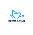 flower dental logo template vector image