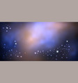 galaxy night sky colorful night sky with shiny vector image vector image