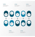 garment outline icons set collection of gown vector image