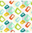geometric vintage 60s seamless pattern vector image vector image