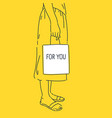 girl is holding a shopping bag a young woman vector image
