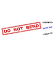 grunge do not bend scratched rectangle watermarks vector image vector image