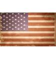 grunge flag of USA vector image