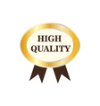 High quality golden label icon vector image vector image