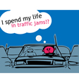 I spend my life in traffic jam vector image vector image