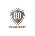initial letter dd shield design loco concept vector image vector image
