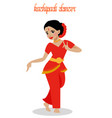 kuchipudi dancer performing in india vector image
