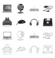 laptop and device icon set vector image vector image
