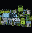 let the kids make their own birthday cake text vector image vector image