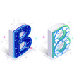 letters b with connecting elements vector image vector image