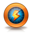 lightning icons badge for game ui vector image vector image